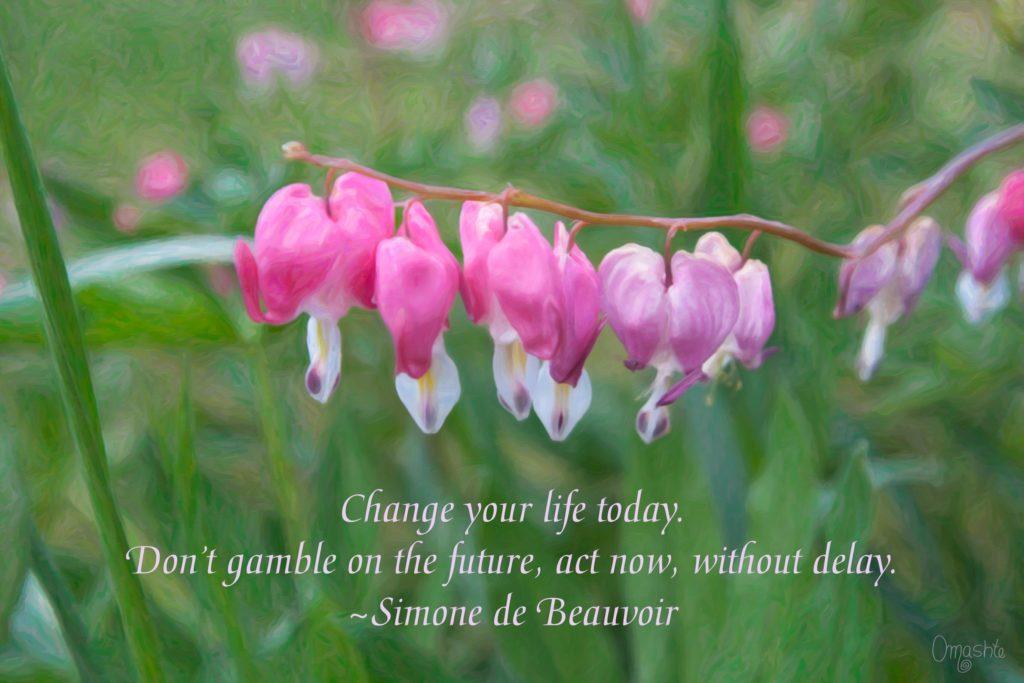 Changing Fortunes - Motivational Flower Art by Omaste Witkowski