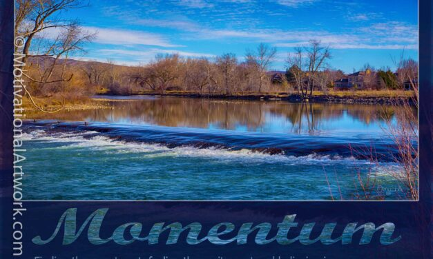 Momentum: Finding the sweet spot, feeling the excitement and believing in your success.