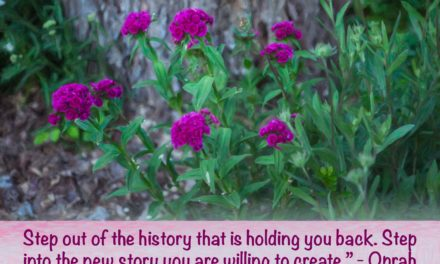 Step out of the history that is holding you back. Step into the new story you are willing to create. ~Oprah
