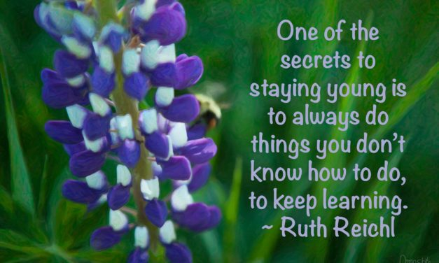 One of the secrets to staying young is to always do things you don't know how to do, to keep learning. ~Ruth Reichl