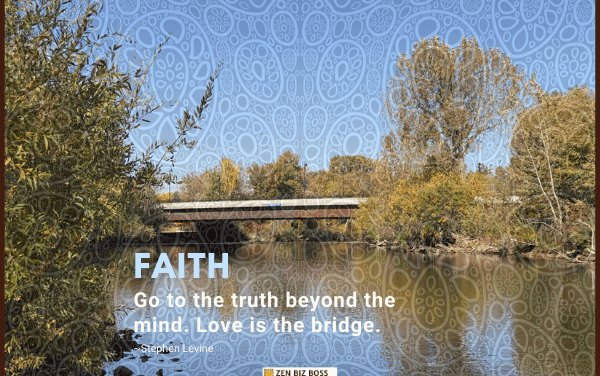 Go to the truth beyond the mind. Love is the bridge. ~Steven Levine