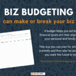 Your biz is only as strong as its budget is blog post featured image graphic