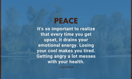 It's so important to realize that every time you get upset, it drains your emotional energy. Losing your cool makes you tired. Getting angry a lot messes with your health. ~Joyce Meyer