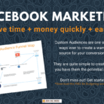 Facebook Marketing with Custom Audiences Funnel Map Graphic Image