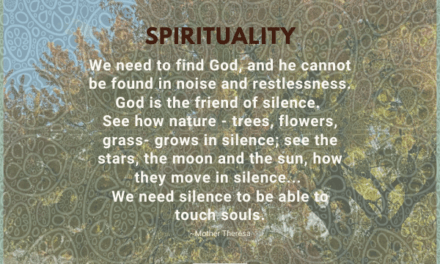 We need to find God, and he cannot be found in noise and restlessness.